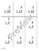 Threes 3s Addition and Subtraction practice/flashcards (editable)