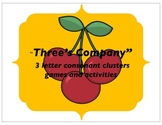 Three's Company - 3 letter consonant clusters games