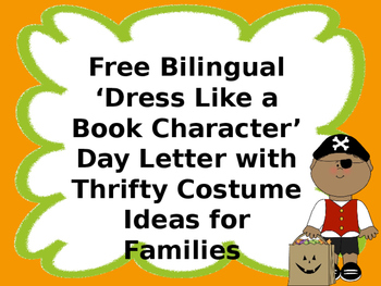 Thrifty Dress Like a Book Character Ideas for Families (Spanish/ English)