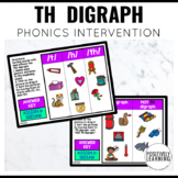 TH Digraph Phonics Intervention Games