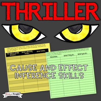 """CAUSE AND EFFECT & INFERENCE SKILLS """"THRILLER"""" BY MICHAEL JACKSON"""
