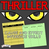 "HALLOWEEN CAUSE AND EFFECT AND INFERENCE SKILLS USING, ""THRILLER"""