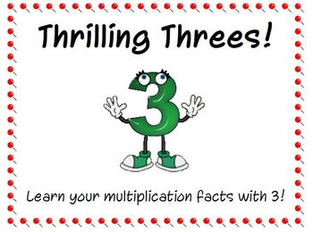 Thrilling Threes! Multiplication Facts with 3.