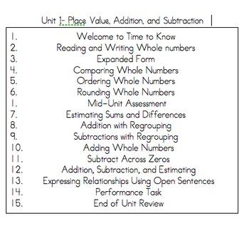 Thrive Math Journal Grade 4 Unit 1
