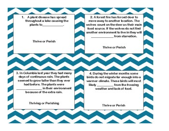 Thrive and Perish Task Cards
