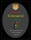 Extinct, Endangered, Thriving Foldable