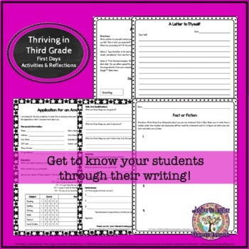 Thriving in Third Grade: First Weeks' Activities and Reflections