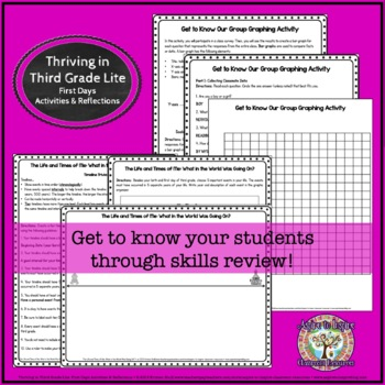 Thriving in Third Grade: First Weeks' Activities and Reflections (Lite)