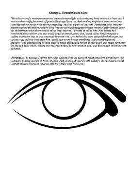 Through Gatsby's Eyes: Artistic/Non-Linguistic/Visualization Reading Activity