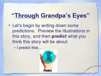 """Through Grandpa's Eyes"" Reading Comprehension Strategies- Open Court"