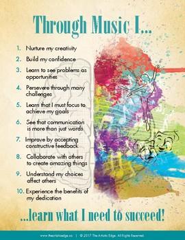 Through Music 8.5X11 Printable Poster