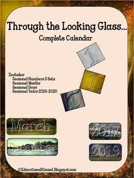 Through The Looking Glass {Compete Calendar Set}