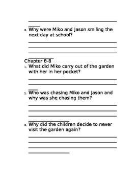 Through the Garden Door Comprehension Questions