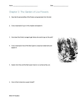 Through the Looking-Glass, and what Alice Found There Comprehension Questions