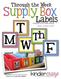 Through the Week Supply Box Labels