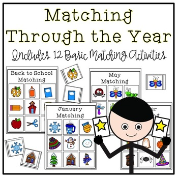 Through the Year Basic Matching Tasks for Early Childhood Special Education