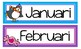 Through the Year Calendar Headers {In Spanish}