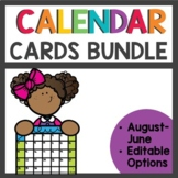 Pocket Chart Calendar and Linear Calendar Cards