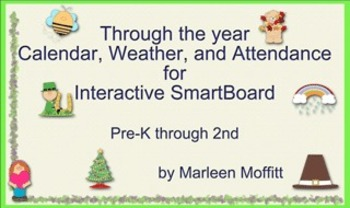 Through the Year Calendar Weather Attendance for Interacti