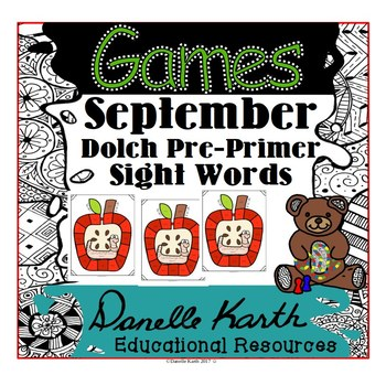 Through the Year - Dolch Primer Sight Word Games - September