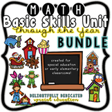 Through the Year No Prep Math Basic Skills Unit GROWING BUNDLE