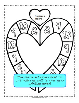 Through the Year - Number Recognition Games for Numbers 0 to 10 - February