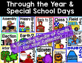 Through the Year & Special School Days Calendar Cards