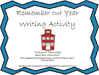 Through the Year Writing!