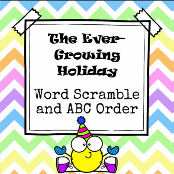 Throughout The Year Word Scramble and ABC Order Cut and Paste