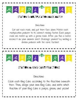 Mardi Gras themed stations and activities! CCSS 4 math, 4 ELA
