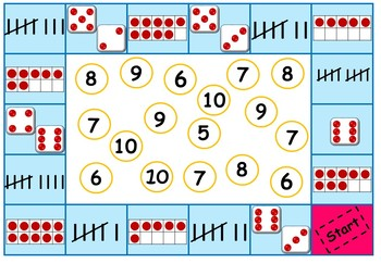 Throw and count - number recognition board game
