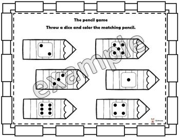 Throw the dice coloring game