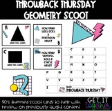 Throwback Thursday Math Task Cards