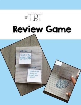 Throwback Thursday Review Game or Exit Ticket