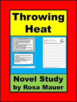 Throwing Heat by Fred Bowen Baseball Book Unit