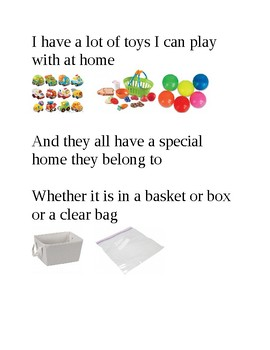 Throwing Toys Social Story