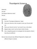 Thumb Print Science