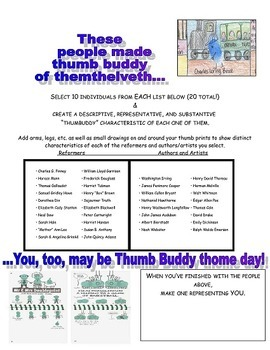 Thumbbuddies- Reformers Finger Paint People