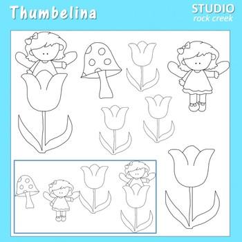 Thumbelina Line Art  C. Seslar