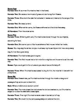 Thumbelina Reader's Theatre Script