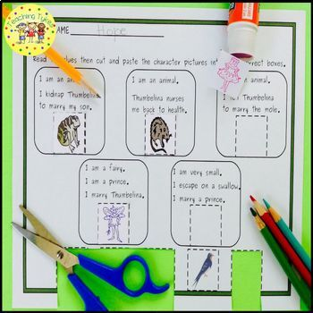 Thumbelina Fairy Tales Worksheets Activities Games Printables and More