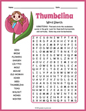 Thumbelina Word Search Puzzle