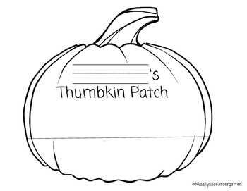 Thumbkin Patch - Halloween Craft