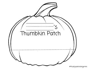 Thumbkin Patch - Halloween Craft