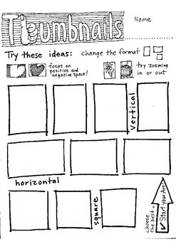 Thumbnails: sketch, plan, and prep for art