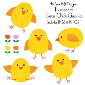 Thumbprint Easter Chick Graphics