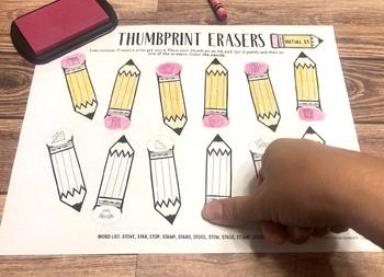 Thumbprint Erasers: An Articulation Art Activity