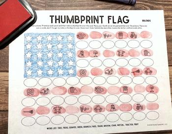 Thumbprint Flag: An Articulation Art Activity