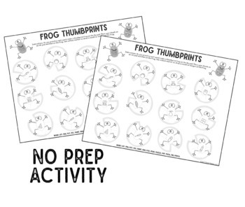 Thumbprint Frogs A Speech Therapy Craft Activity