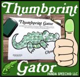 Thumbprint Gator: An Articulation Art Activity